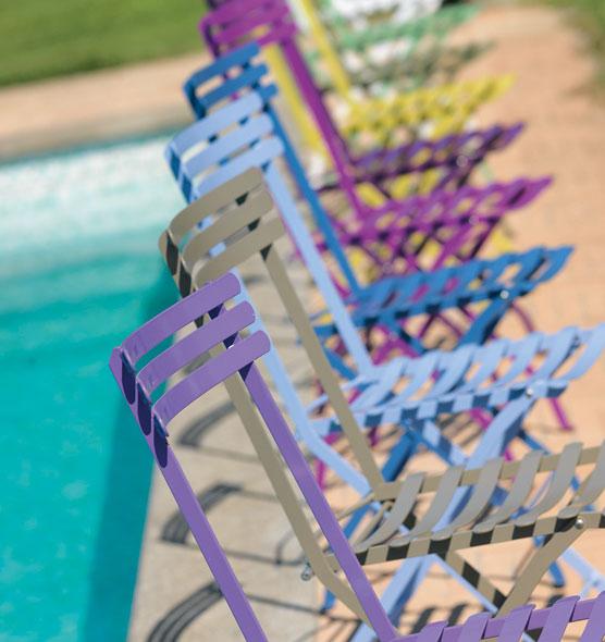 sedie-pieghevoli-colorate-metallo-da-giardino | Ethimo